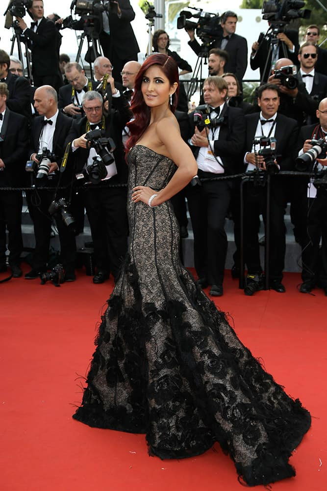 Katrina Kaif arrives for the opening ceremony and the screening of the film La Tete Haute (Standing Tall) at the 68th international film festival, Cannes.