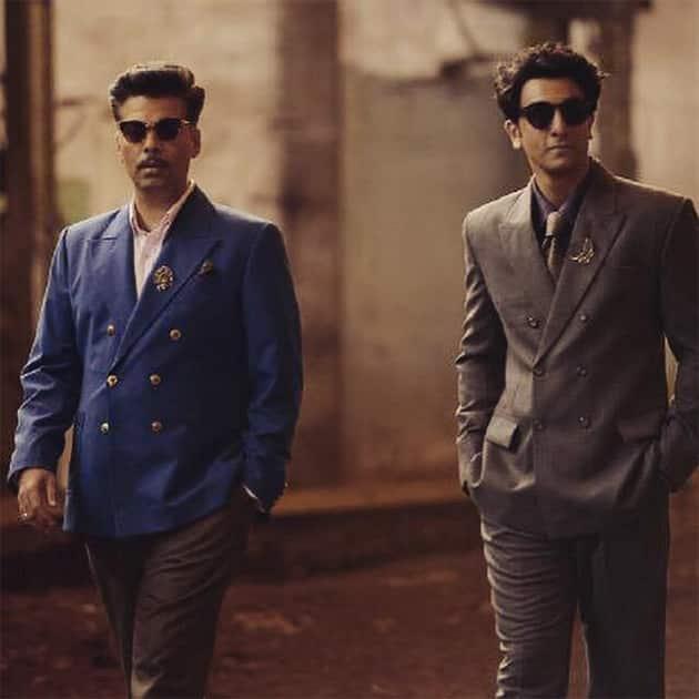 Johnny Balraj and Kaizad Khambatta  ....#15thmay....#BombayVelvet. Twitter@karanjohar