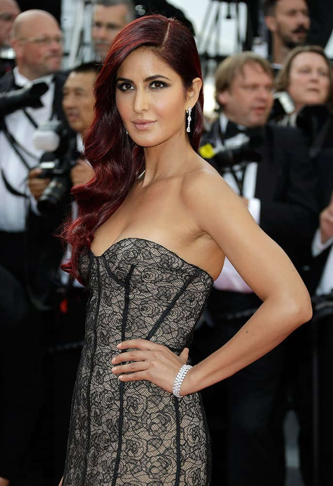Katrina Kaif arrives for the opening ceremony and the screening of the film La Tete Haute (Standing Tall) at the 68th international film festival, Cannes, southern France.