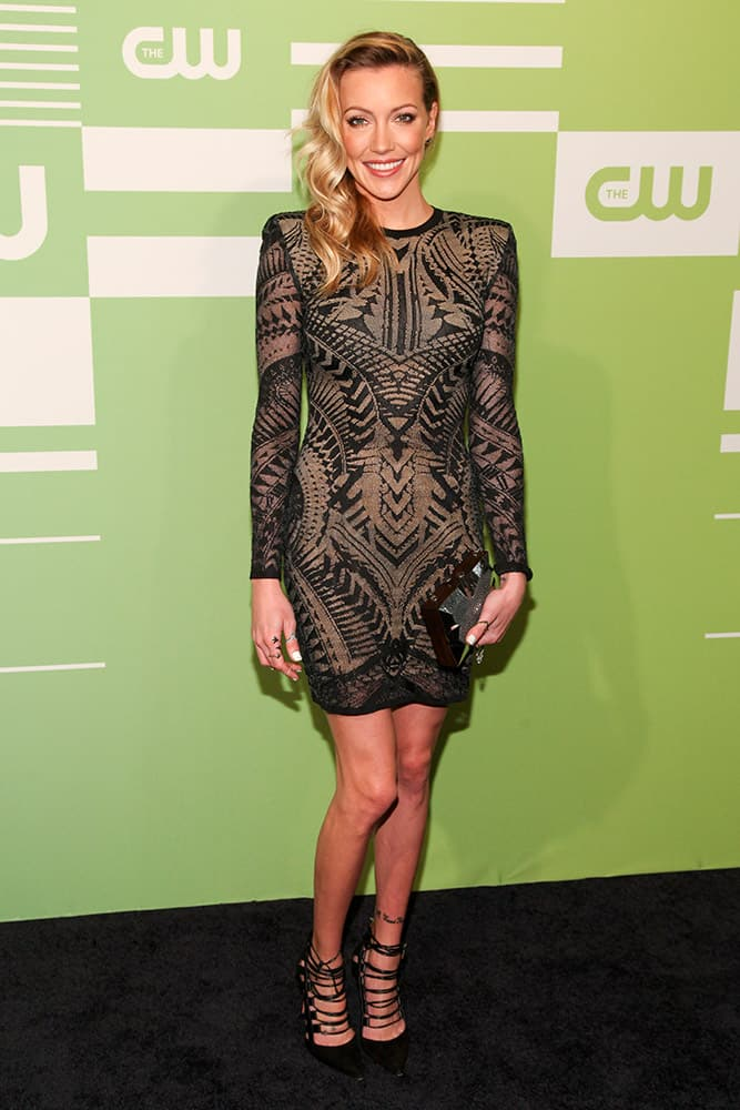 Katie Cassidy attends The CW Network 2015 Programming Upfront Presentation at The London Hotel.