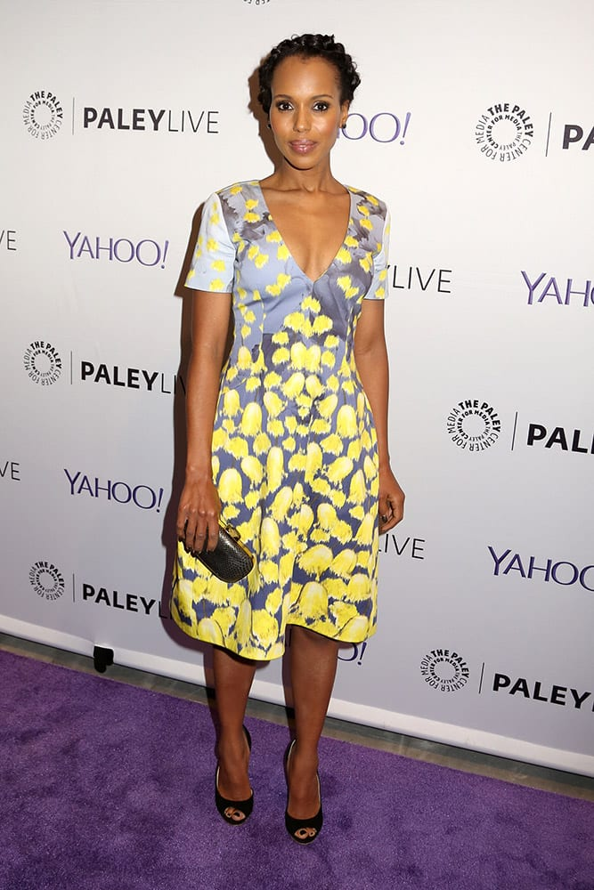 Kerry Washington attends The Paley Center For Media's panel discussion with the cast of 'Scandal', in New York.