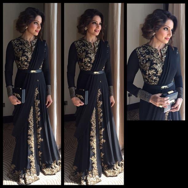 In Dubai for an event ! Wearing a beautiful Sabyasachi outfit ❤ - Instagram@bipashabasu
