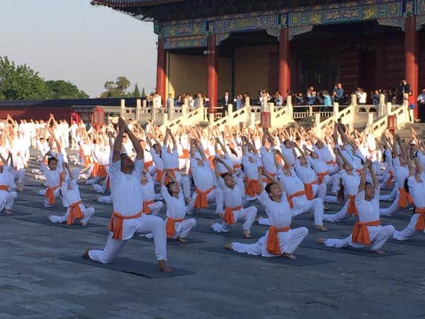 It was a delight seeing Indian & Chinese children do Yoga and Taichi. - Twitter@narendramodi