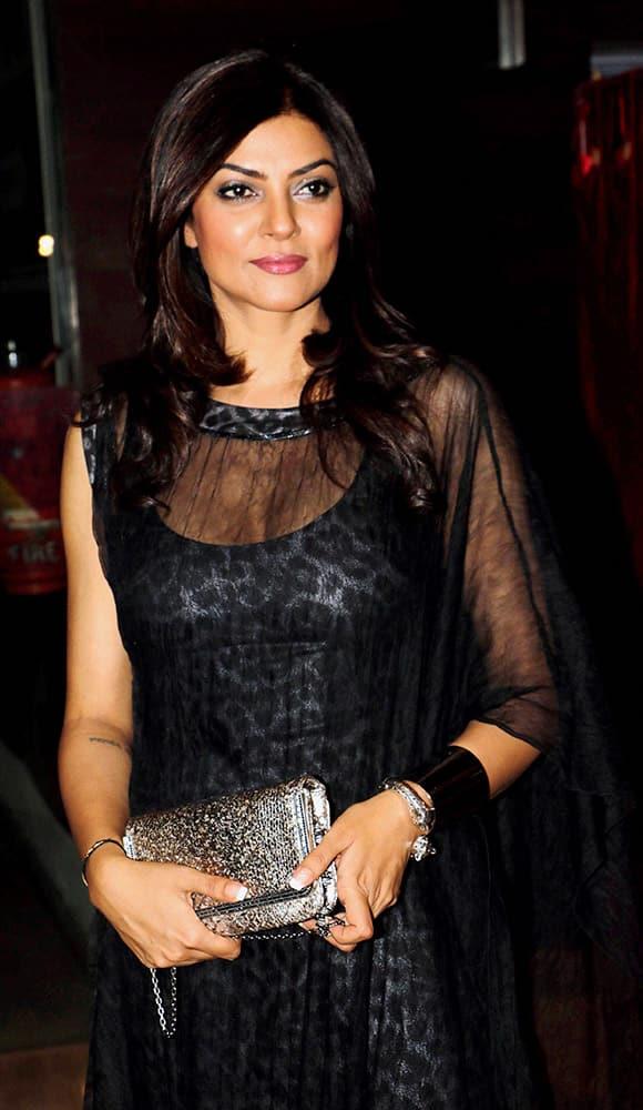 Sushmita Sen during the screening of Bengali film Nirbaak in Mumbai.