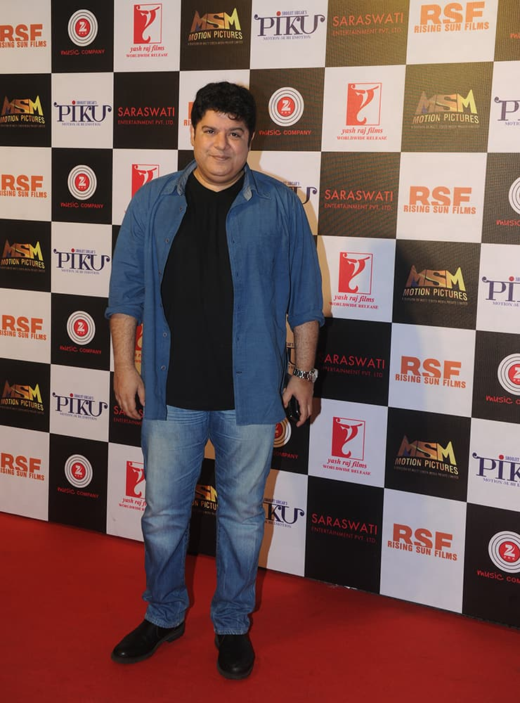 Sajid Khan at the party held to celebrate the success of 'Piku' at Sofitel, Bandra in Mumbai. dna