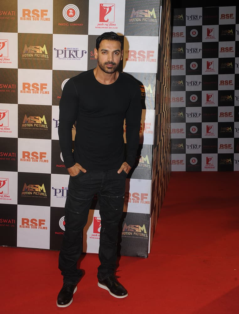 John Abraham at the party held to celebrate the success of 'Piku' at Sofitel, Bandra in Mumbai. dna