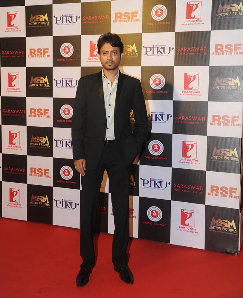 Irfan Khan at the party held to celebrate the success of 'Piku' at Sofitel, Bandra in Mumbai. dna