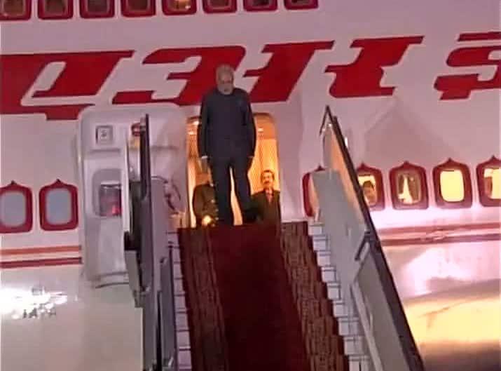 PM Narendra Modi arrives in Ulaanbaatar, Mongolia #ModiInMongolia Twitter@ANI