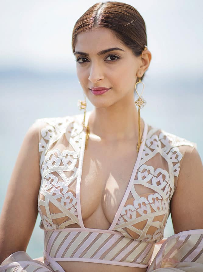 Actress Sonam Kapoor poses for a photograph during the 68th international film festival, Cannes.