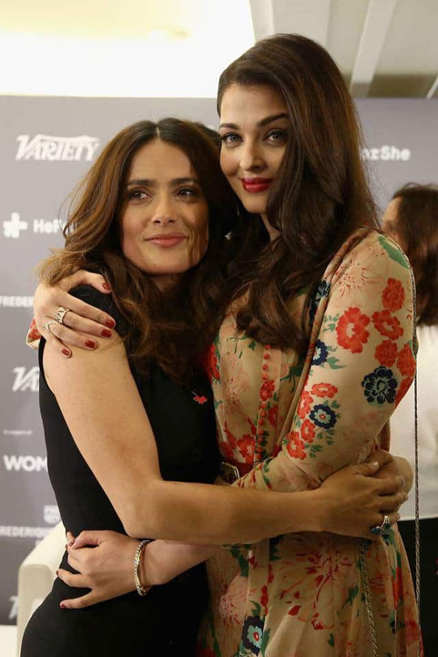 Aishwarya Rai Bachchan poses for photographers on arrival at theVariety and UN Women Panel discussion, during the 68th international film festival, Cannes
