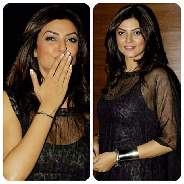 It's really nice to Sushmita make public appearances on the rare occasions that she does. -twitter
