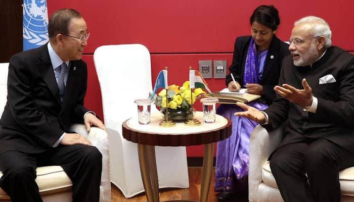 Modi, Ban discuss climate change, UNSC reforms