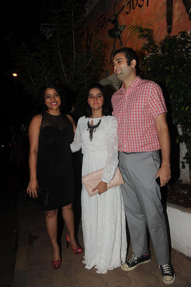Shruti Seth at Deepika Padukone's bash to celebrate the success of Piku at Olive in Mumbai.
