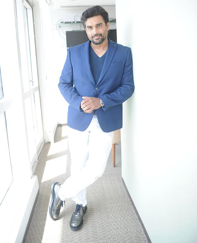 Actor R Madhavan visited dna office to promote his upcoming film 'Tanu Weds Manu Returns' at Elphinstone Road. -dna