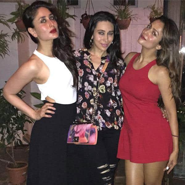 Kareena Kapoor Khan :- Kareena's girls night out with Karisma Kapoor and Amrita Arora! -twitter