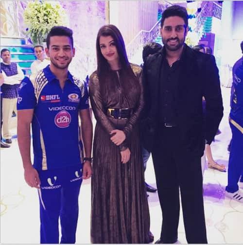 Aishwarya Rai Bachchan :- Spotted #AishwaryaRaiBachchan with #AbhishekBachchan attending celebration for #Mumbai Indians. -twitter