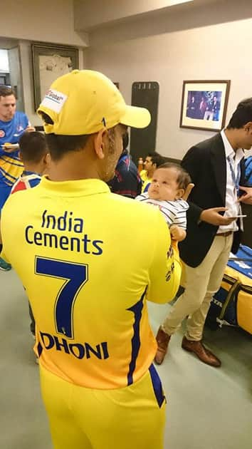 Adorable pics of MS Dhoni's daughter Ziva