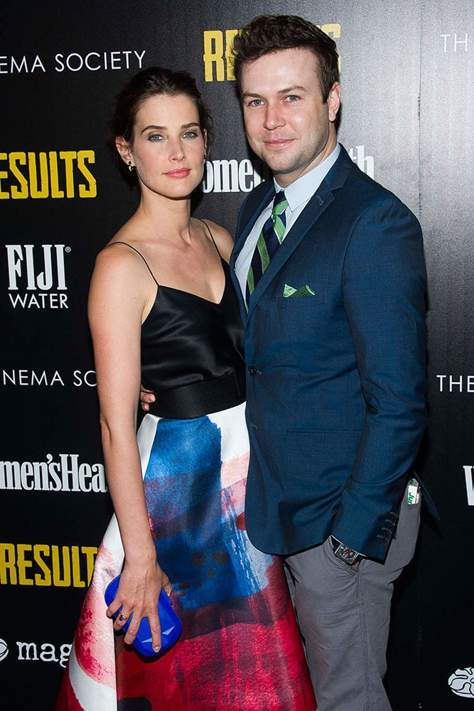 Cobie Smulders, left, and Taran Killam attend a special screening of Magnolia Pictures'
