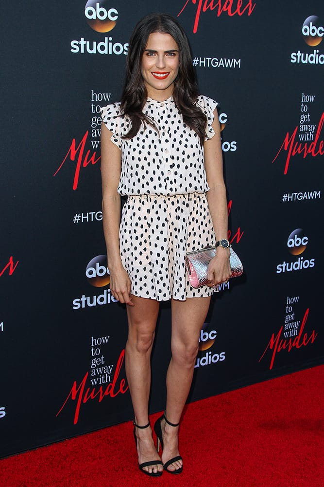 Karla Souza attends the 'How To Get Away With Murder' ATAS Event at Sunset-Gower Studios, in Los Angeles.