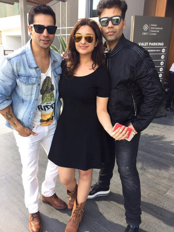 Karan and I honoured and privileged to have lunch with The Varun Dhawan. @karanjohar @Varun_dvn - Twitter@ParineetiChopra