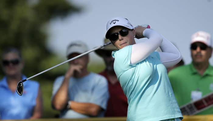 Pressel grabs first-round LPGA lead