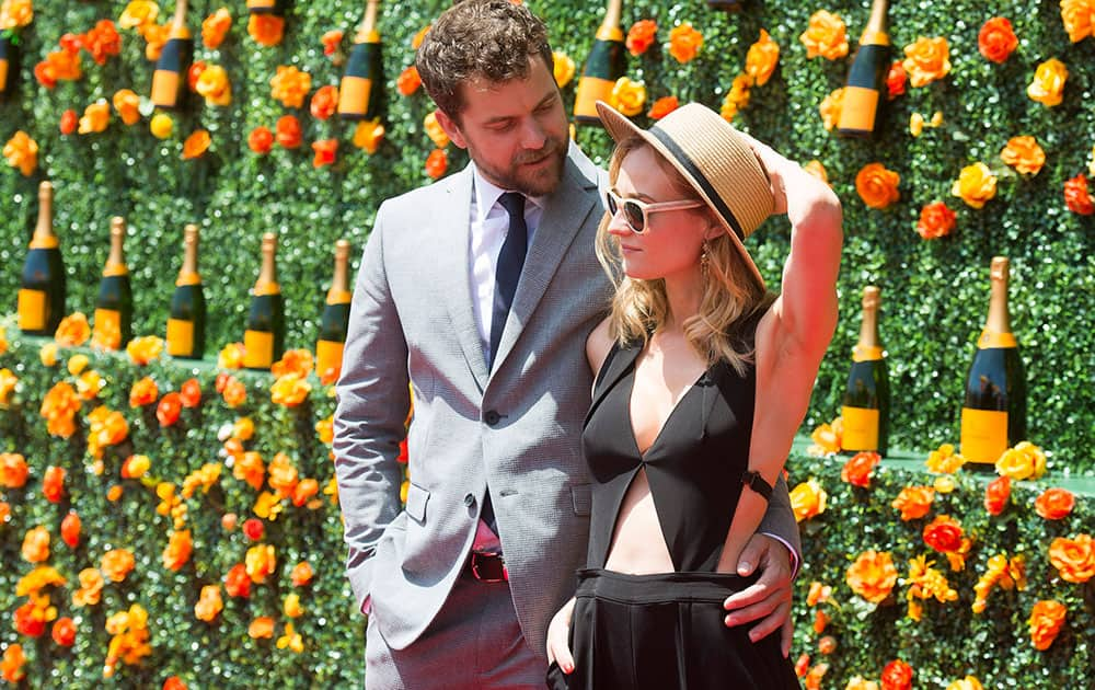 Joshua Jackson and Diane Kruger attend the eighth annual Veuve Clicquot Polo Classic at Liberty State Park, in Jersey City, N.J.
