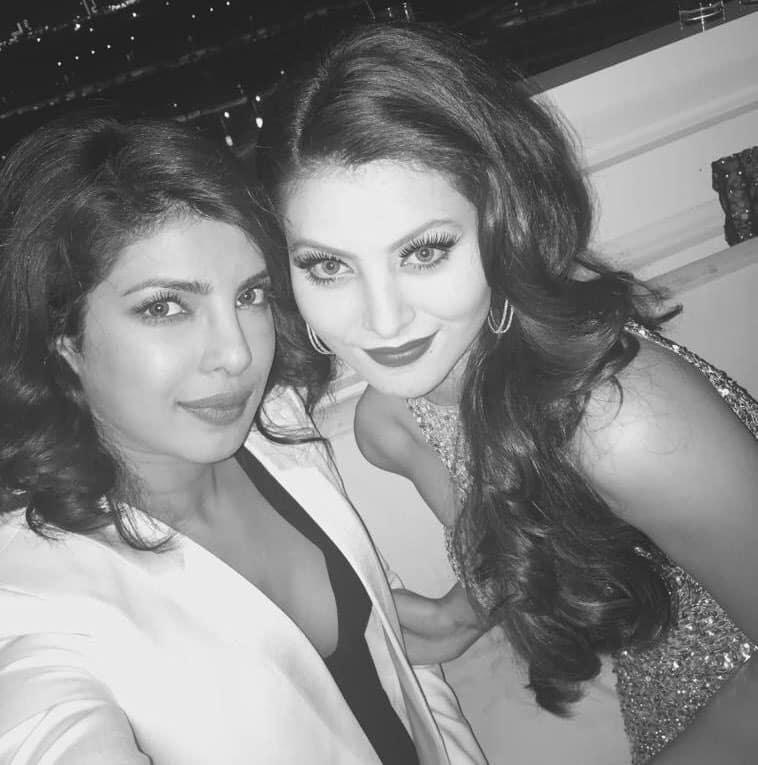 SRK-PRIYANKA Daily:- Selfie with the gorgeous @urvashirautelaforever in Dubai. -twitter