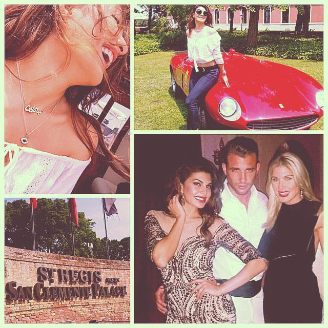 Jacqueline Fernandez :- #venice in a day!! Found my #dreamcar #dreamhotel #dreamcity and very dreamy people!!  Mucho Gracie… -instagram