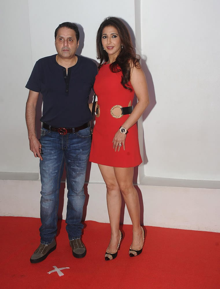 Sunil and Krishika Lulla, during the birthday celebration of R Madhavan in Mumbai. DNA