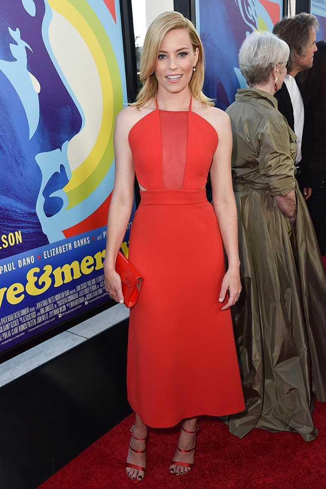 Elizabeth Banks arrives at the LA Premiere Of 'Love & Mercy' at the Samuel Goldwyn Theater, in Beverly Hills, Calif.