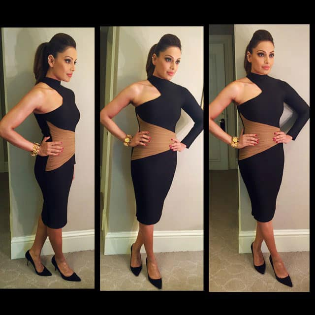 Bipasha Basu ‏:- Going for the #iifa2015 Malaysia press conference :) In a @shivanandnarresh outfit! Styled by @sanjanabatra ! -instagram