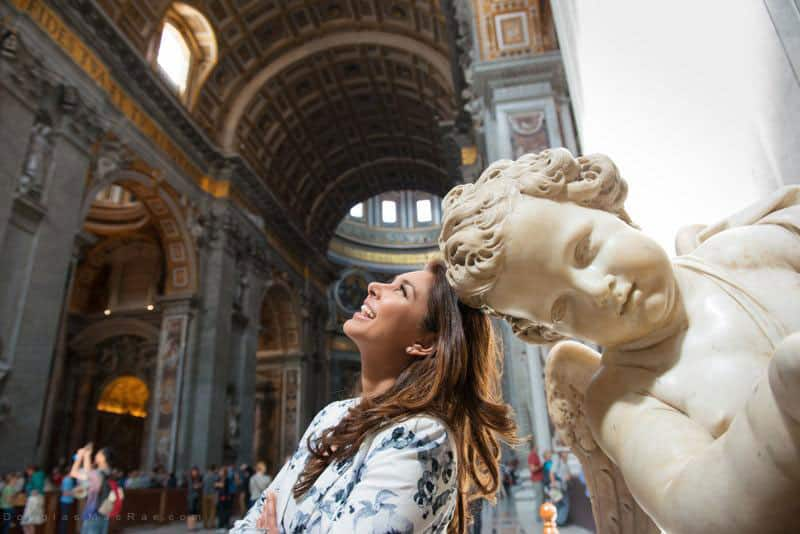 @Lisaraniray in St. Peters Basilica, #Rome #Italy Shot on my my trip with @InsightVacation  #insightmoments  -twitter