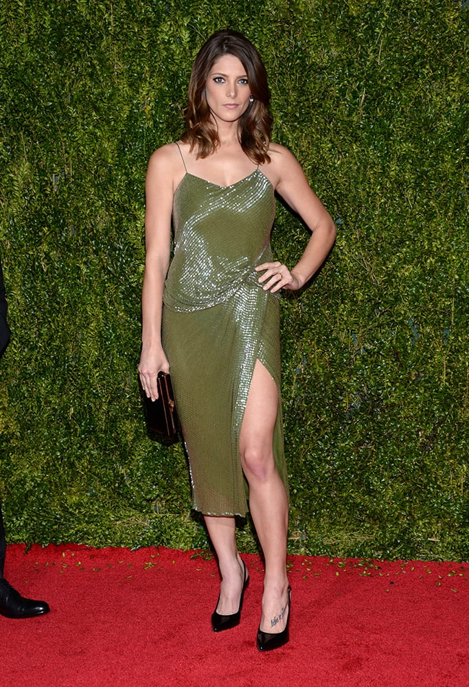 Ashley Greene arrives at the 69th annual Tony Awards at Radio City Music Hall, in New York.