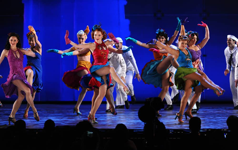 The cast of 'On the Town' performs at the 69th annual Tony Awards at Radio City Music Hall, in New York.