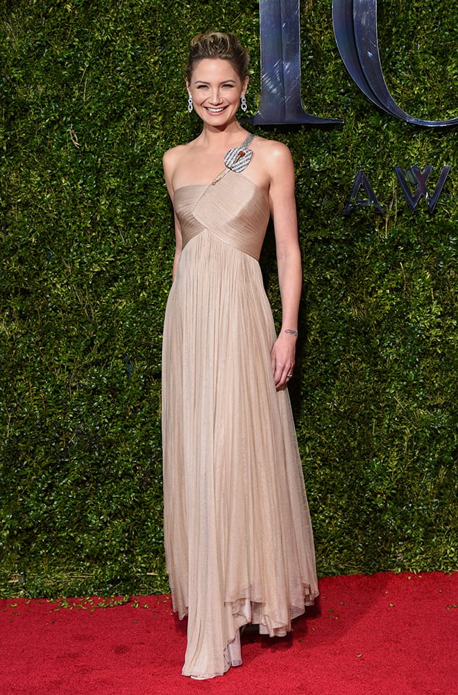 Jennifer Nettles arrives at the 69th annual Tony Awards at Radio City Music Hall, in New York.
