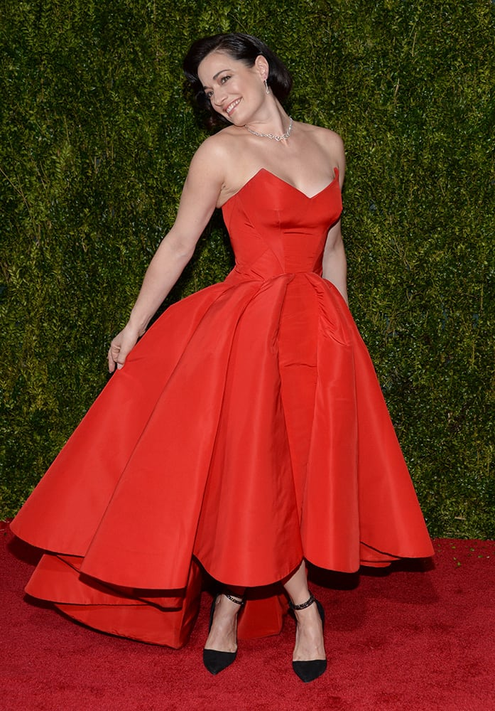 Laura Michelle Kelly arrives at the 69th annual Tony Awards at Radio City Music Hall, in New York.