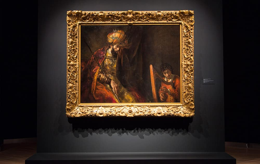 This photo provided by Mauritshuis shows Rembrandt's 'Saul and David' after restororation. After a CSI-style investigation, the Mauritshuis museum has declared on Tuesday that one of the stars of its collection really is by Dutch master Rembrandt van Rijn.
