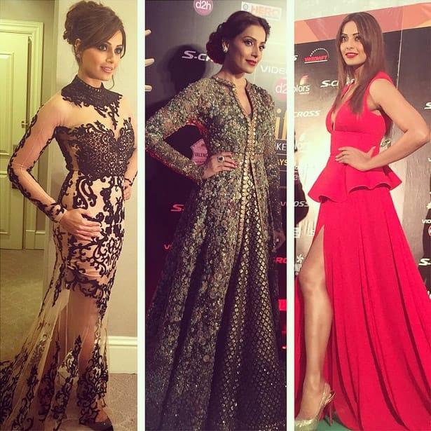 Thank you @sonaakshiraaj @sabyasachimukherjee and @gauriandnainika for your beautiful outfits for me at #iifa2015 ! Thank u @sanjanabatra for all the help! - Instagram@bipashabasu