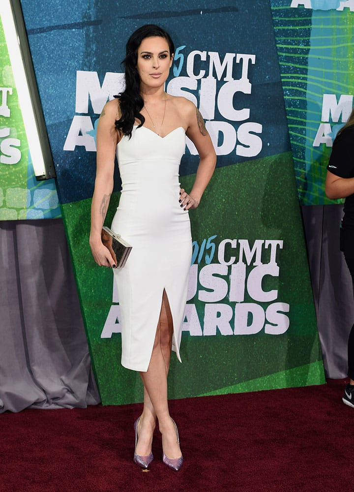 Rumer Willis arrives at the CMT Music Awards at Bridgestone Arena, in Nashville, Tenn.