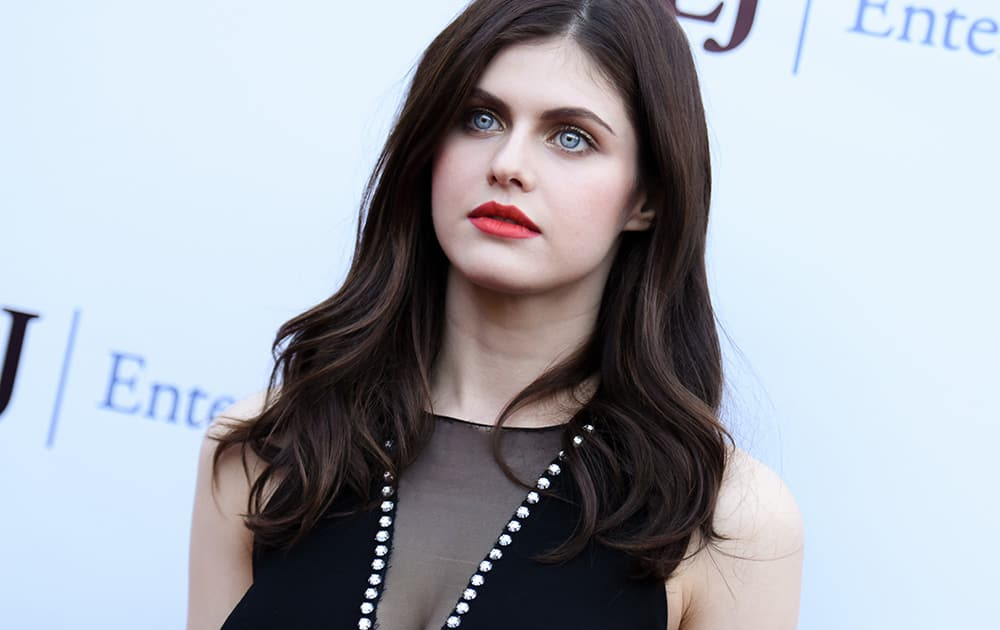 Alexandra Daddario arrives at a special screening of