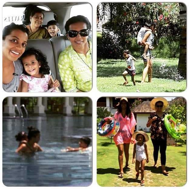 #happiness #family #vacation #Pondicherry #sun #fun #water #beach #dancing #enjoy #reewa #arnav @madurakulkarni @savitaharigodse - Instagram@mugdhagodse