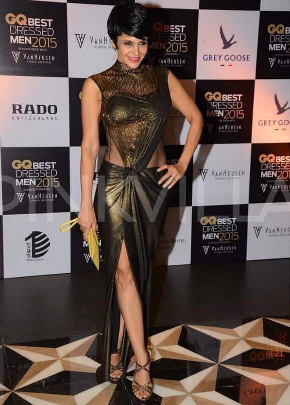 At the @gqindia party last night.. Wearing #GauravGupta Thank you GQ as always, for a fabulous evening.. Twitter@mandybedi