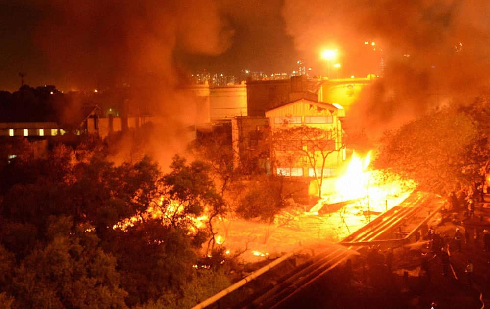 A major fire broke out at an oil depot due to a suspected leakage at Wadala area in central Mumbai.
