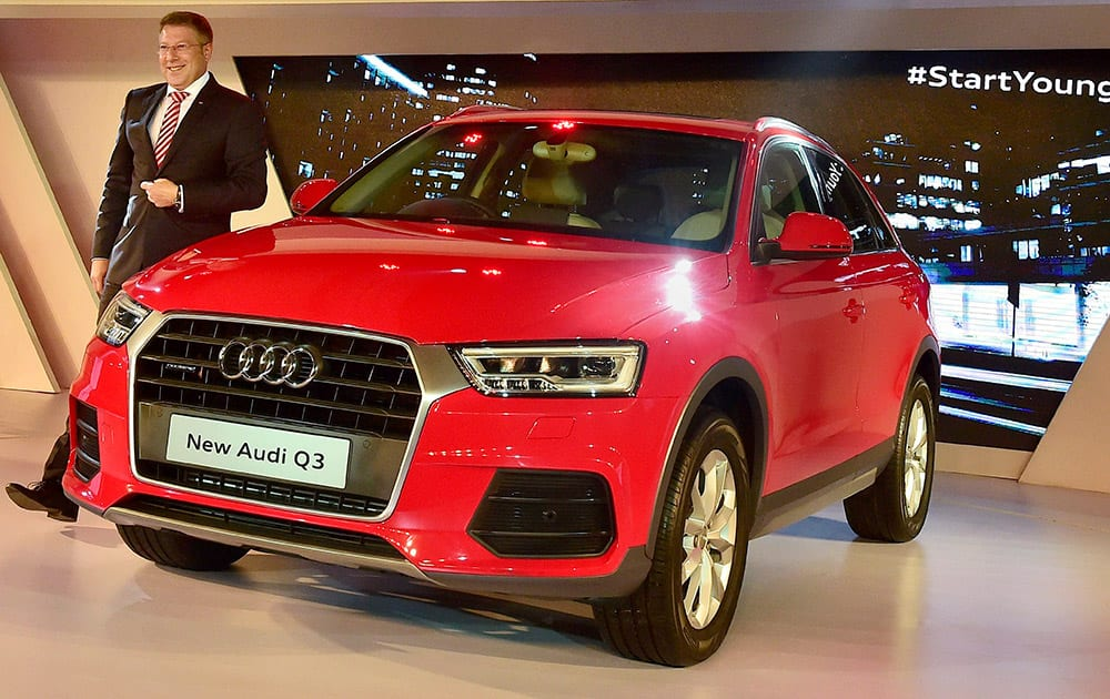 Joe King, Head, Audi India, poses at the launch of New Audi Q3 in New Delhi. The car has been priced Rs 28,99000 (ex-showroom in New Delhi and Mumbai).