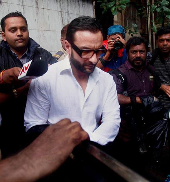 Saif Ali Khans arrives at Killa court in Mumbai.