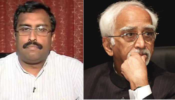 Ansari row: Govt apologises for Ram Madhav's criticism