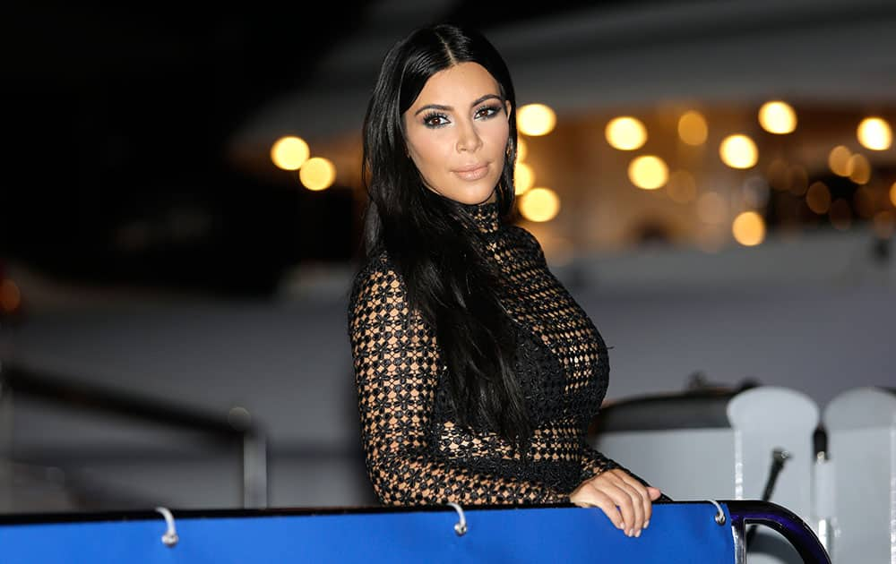 US television personality Kim Kardashian poses during a photo call at the Cannes Lions 2015, International Advertising Festival in Cannes, southern France.