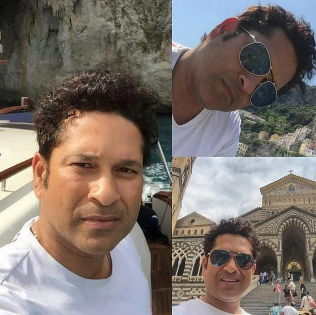 In Capri, Italy - Instagram@sachintendulkar