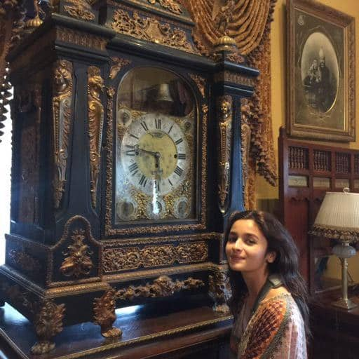 Timely and Timeless! Alia listening to the heartbeat of time at the Falaknuma Palace. Twitter@MaheshNBhatt  25m