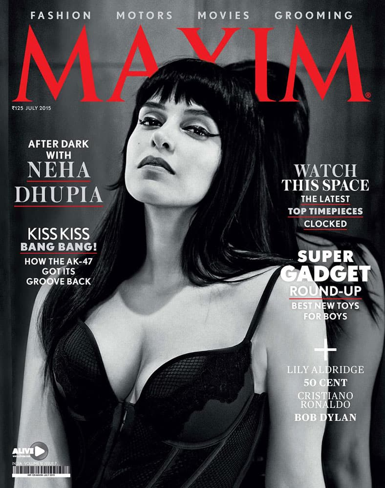 Maxim India :- @NehaDhupia all around goddess and #MaximIndia cover girl for July. Check it out. #NehaDhupia #HotRightNow #CoverGirl -twitter
